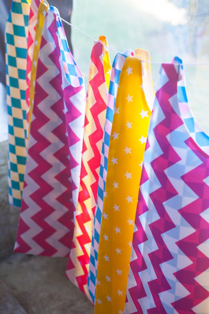 Superhero Capes from a Girly Superhero Birthday Party via Kara's Party Ideas KarasPartyIdeas.com (10)