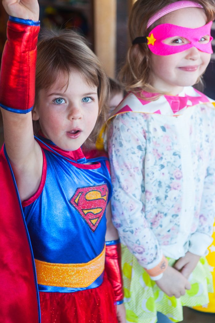 Superheroes from a Girly Superhero Birthday Party via Kara's Party Ideas KarasPartyIdeas.com (8)