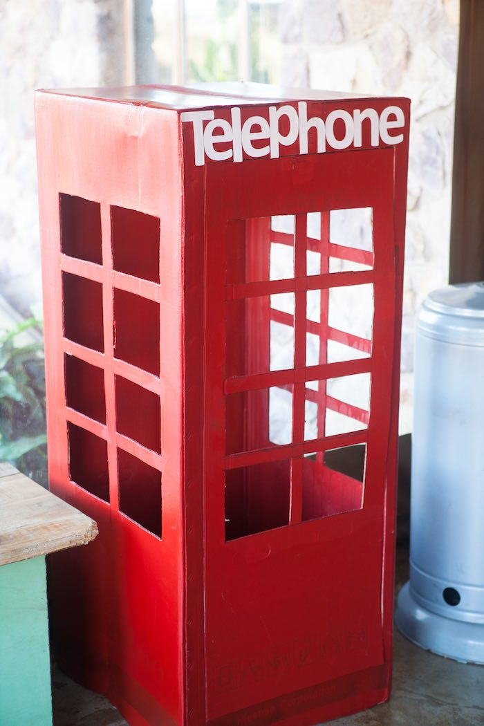 Telephone Booth from a Girly Superhero Birthday Party via Kara's Party Ideas KarasPartyIdeas.com (20)