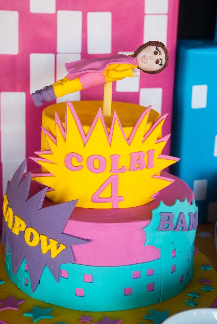 Surprising Karas Party Ideas Girly Girl Superhero Birthday Party Karas Personalised Birthday Cards Xaembasilily Jamesorg