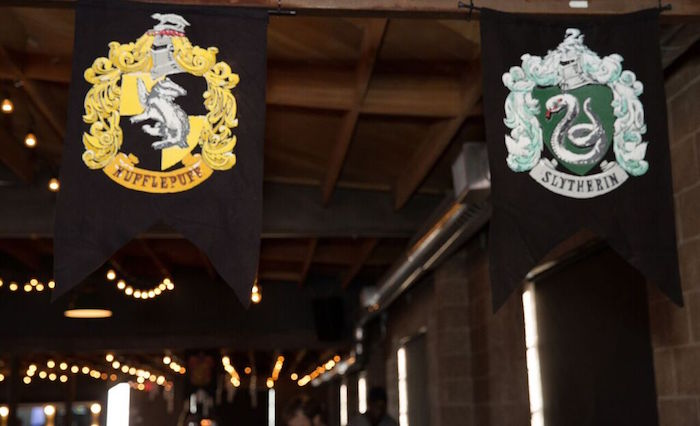 Hanging House Banners from a Harry Potter Birthday Party via Kara's Party Ideas KarasPartyIdeas.com (30)