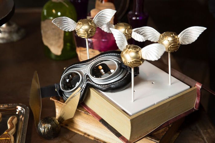 Golden Snitch Cake Pops from a Harry Potter Birthday Party via Kara's Party Ideas KarasPartyIdeas.com (27)