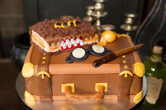 Cake from a Harry Potter Birthday Party via Kara's Party Ideas KarasPartyIdeas.com (26)