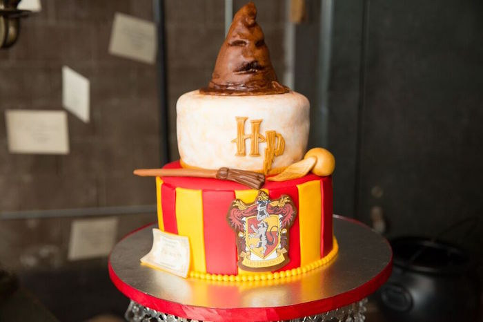 Cake from a Harry Potter Birthday Party via Kara's Party Ideas KarasPartyIdeas.com (25)