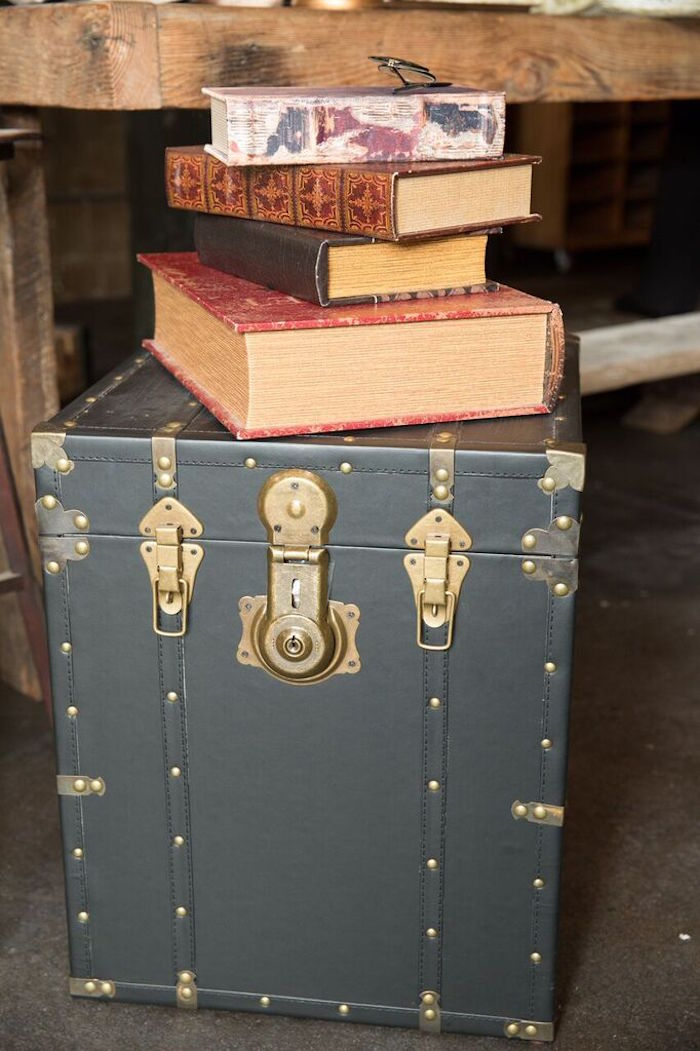 Decor + Trunk & Books from a Harry Potter Birthday Party via Kara's Party Ideas KarasPartyIdeas.com (22)