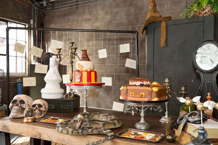 Dessert Table from a Harry Potter Birthday Party via Kara's Party Ideas KarasPartyIdeas.com (20)