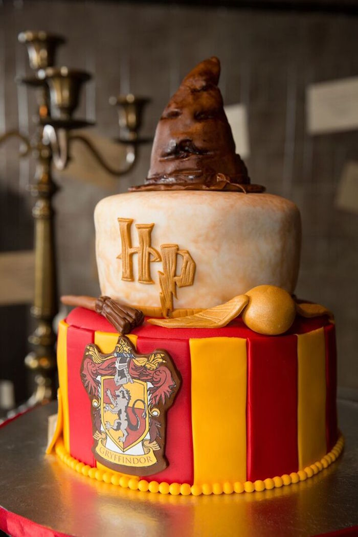 Karas Party Ideas Cake from a Harry Potter Birthday Party via