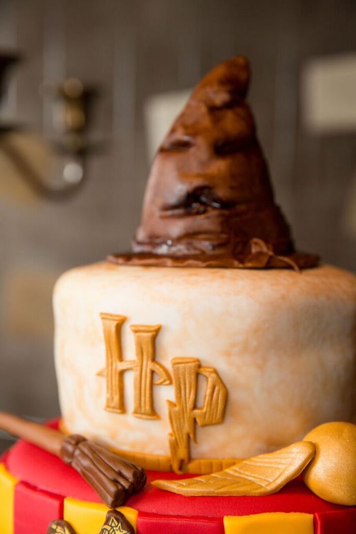 Top of a Cake from a Harry Potter Birthday Party via Kara's Party Ideas KarasPartyIdeas.com (16)