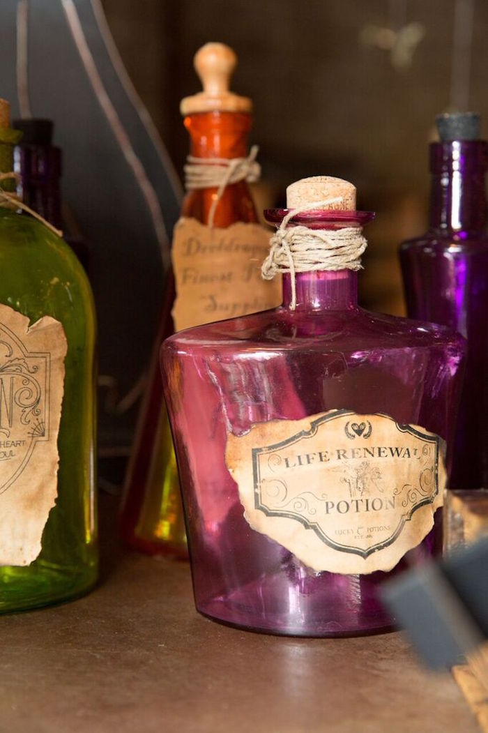 Potion Bottle from a Harry Potter Birthday Party via Kara's Party Ideas KarasPartyIdeas.com (15)