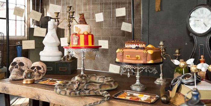 Sweet Table from a Harry Potter Birthday Party via Kara's Party Ideas KarasPartyIdeas.com (2)