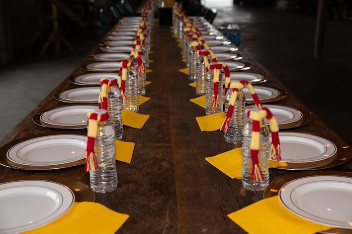 Dining Table from a Harry Potter Birthday Party via Kara's Party Ideas KarasPartyIdeas.com (37)