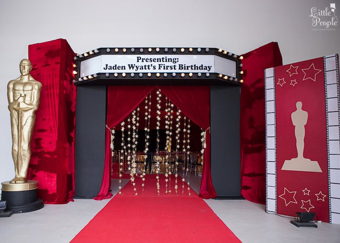 Karas Party Ideas Hollywood Oscars 1st Birthday