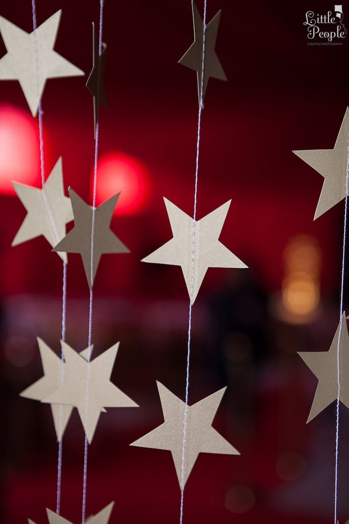 Star Garland from a Hollywood + Oscars Inspired 1st Birthday Party via Kara's Party Ideas KarasPartyIdeas.com (15)