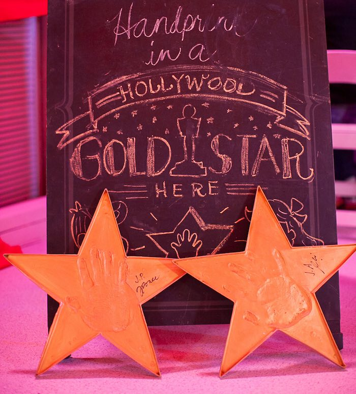 Chalkboard Sign from a Hollywood + Oscars Inspired 1st Birthday Party via Kara's Party Ideas KarasPartyIdeas.com (3)