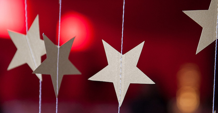 Star Bunting + Garland from a Hollywood + Oscars Inspired 1st Birthday Party via Kara's Party Ideas KarasPartyIdeas.com (1)
