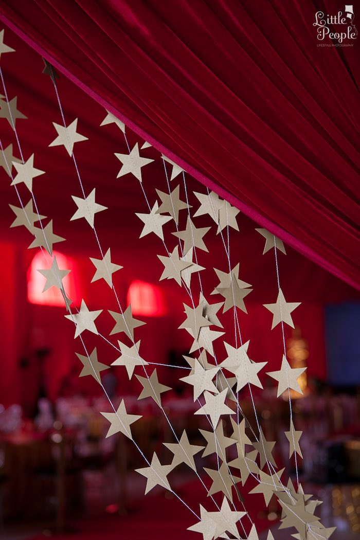 Star Garland Curtain from a Hollywood + Oscars Inspired 1st Birthday Party via Kara's Party Ideas KarasPartyIdeas.com (23)