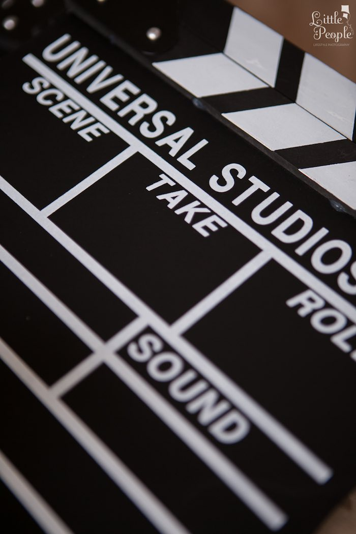 Clapperboard from a Hollywood + Oscars Inspired 1st Birthday Party via Kara's Party Ideas KarasPartyIdeas.com (19)