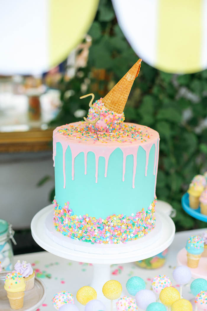 Cake Decorations For Birthday Party : Kara s Party Ideas Ice Cream Inspired Birthday Party ...