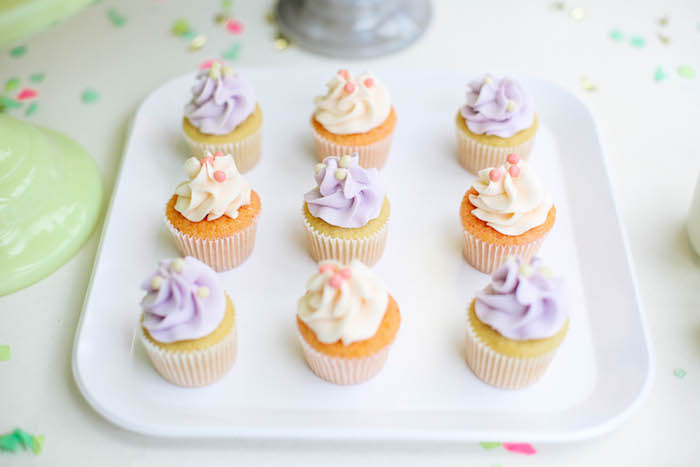Cupcakes from an Ice Cream Inspired Birthday Party via Kara's Party Ideas | KarasPartyIdeas.com (7)
