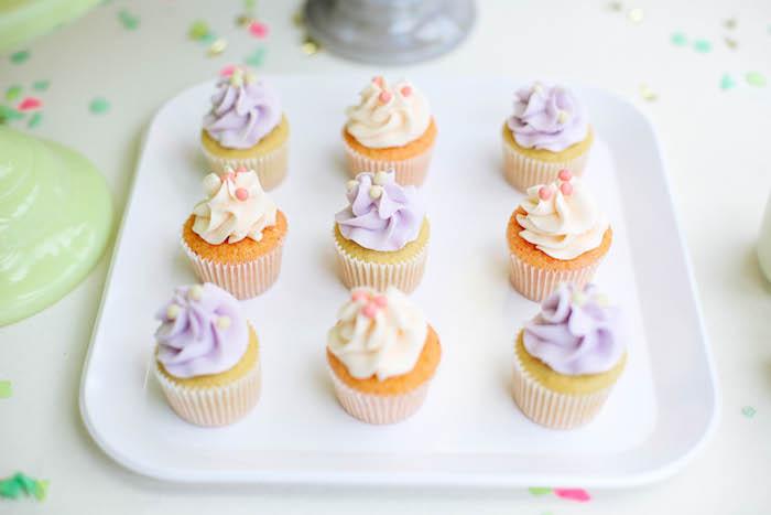 Cupcakes from an Ice Cream Inspired Birthday Party via Kara's Party Ideas | KarasPartyIdeas.com (7)