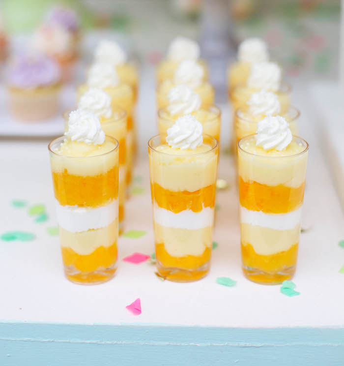 Dessert Shooters from an Ice Cream Inspired Birthday Party via Kara's Party Ideas | KarasPartyIdeas.com (5)