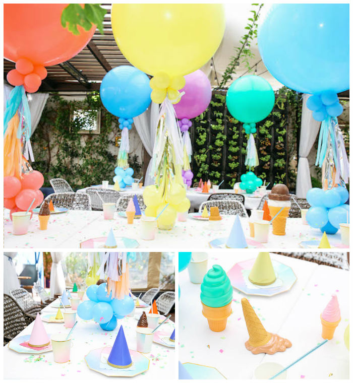 Partyscape from an Ice Cream Inspired Birthday Party via Kara's Party Ideas | KarasPartyIdeas.com (2)