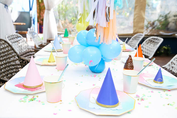 Guest Tablescape from an Ice Cream Inspired Birthday Party via Kara's Party Ideas | KarasPartyIdeas.com (19)