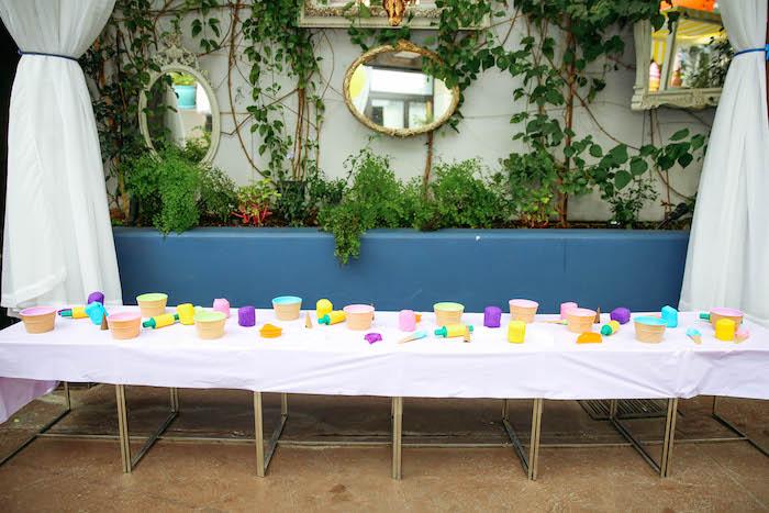 Activity Table from an Ice Cream Inspired Birthday Party via Kara's Party Ideas | KarasPartyIdeas.com (16)