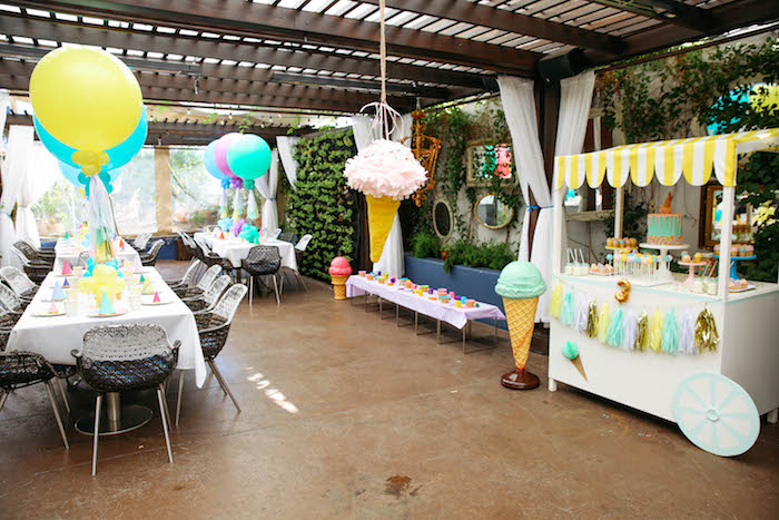 Partyscape from an Ice Cream Inspired Birthday Party via Kara's Party Ideas | KarasPartyIdeas.com (11)