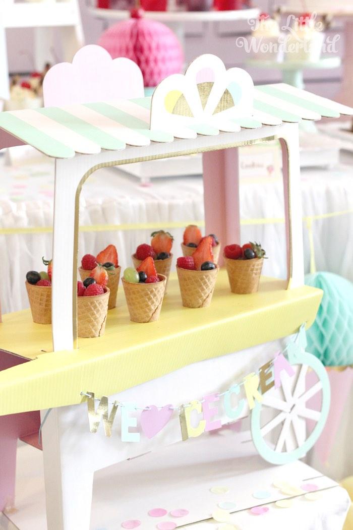 Mini Ice Cream Cart from an Ice Cream Parlor Birthday Party via Kara's Party Ideas KarasPartyIdeas.com (16)