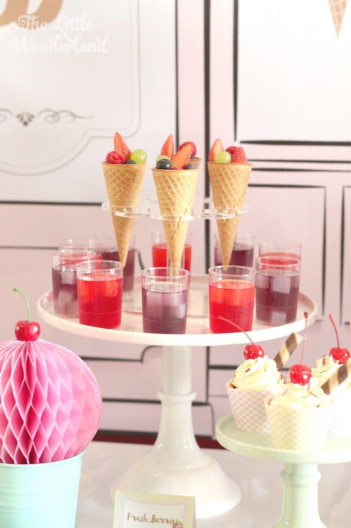 Desserts from an Ice Cream Parlor Birthday Party via Kara's Party Ideas KarasPartyIdeas.com (14)