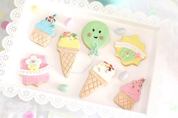 Cookies from an Ice Cream Parlor Birthday Party via Kara's Party Ideas KarasPartyIdeas.com (13)