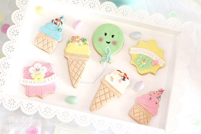 Cookies from an Ice Cream Parlor Birthday Party via Kara's Party Ideas KarasPartyIdeas.com (13)