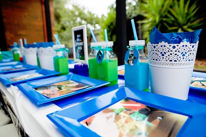 Dining Tablescape from a Lego Star Wars Birthday Party via Kara's Party Ideas | KarasPartyIdeas.com | The Place for All Things Party! (16)