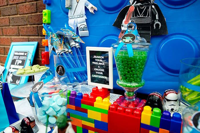 Favors + Sweets + Decor from a Lego Star Wars Birthday Party via Kara's Party Ideas | KarasPartyIdeas.com | The Place for All Things Party! (13)