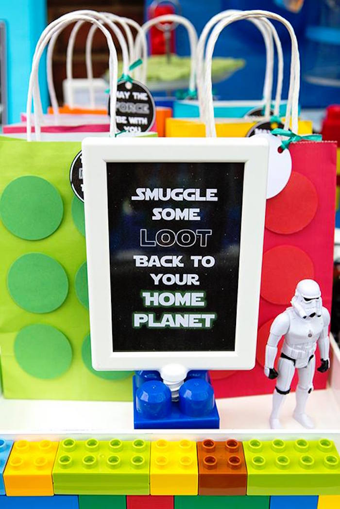 Stationery Sign from a Lego Star Wars Birthday Party via Kara's Party Ideas | KarasPartyIdeas.com | The Place for All Things Party! (8)