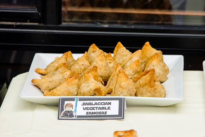 Sarlacc Vegetable Samosas from a Lego Star Wars Birthday Party via Kara's Party Ideas | KarasPartyIdeas.com | The Place for All Things Party! (26)