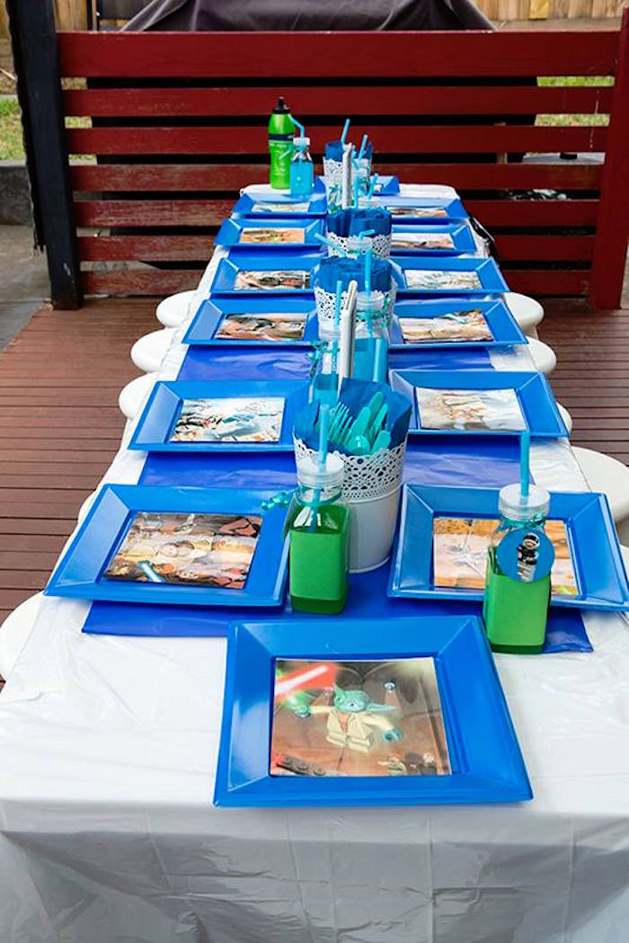 Kid's Dining Table from a Lego Star Wars Birthday Party via Kara's Party Ideas | KarasPartyIdeas.com | The Place for All Things Party! (7)
