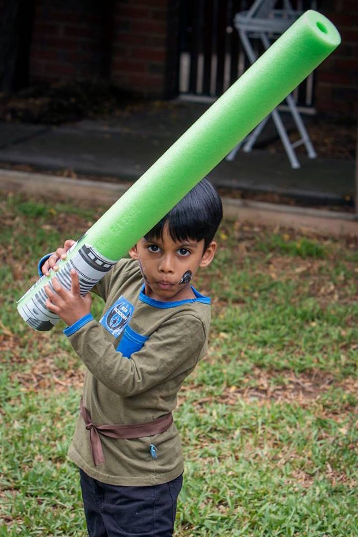 Birthday Boy Jedi from a Lego Star Wars Birthday Party via Kara's Party Ideas | KarasPartyIdeas.com | The Place for All Things Party! (6)