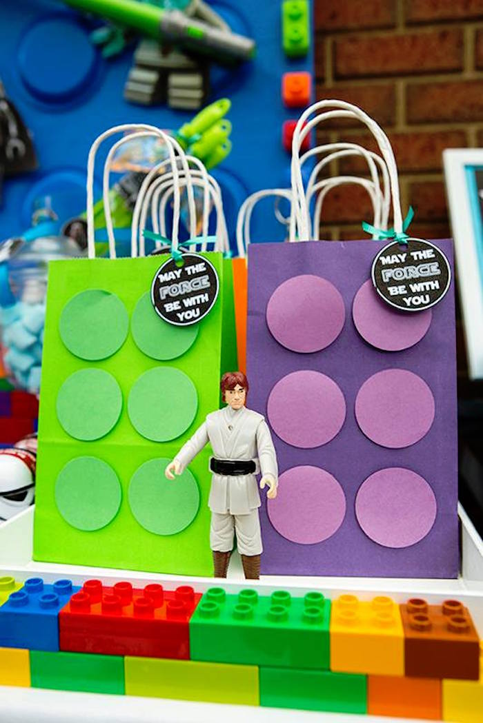 Favor Sacks from a Lego Star Wars Birthday Party via Kara's Party Ideas | KarasPartyIdeas.com | The Place for All Things Party! (5)