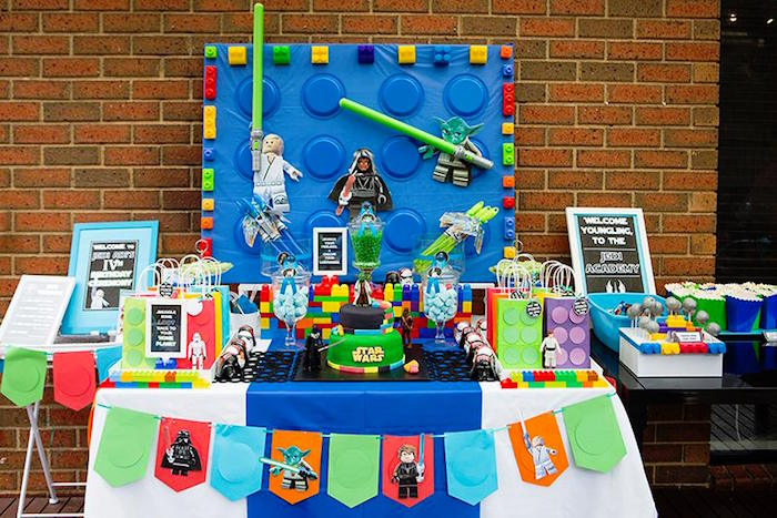 Head Table from a Lego Star Wars Birthday Party via Kara's Party Ideas | KarasPartyIdeas.com | The Place for All Things Party! (3)