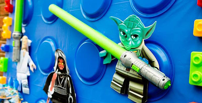 Yoda Backdrop Piece from a Lego Star Wars Birthday Party via Kara's Party Ideas | KarasPartyIdeas.com | The Place for All Things Party! (1)