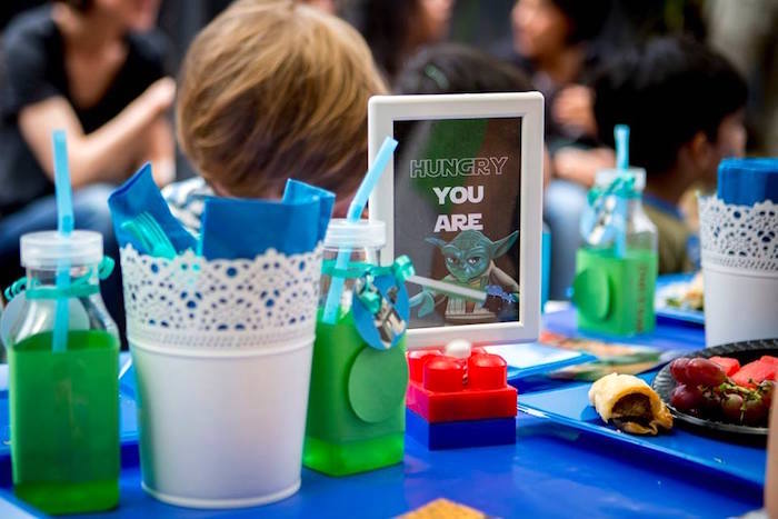 Dining Tablescape from a Lego Star Wars Birthday Party via Kara's Party Ideas | KarasPartyIdeas.com | The Place for All Things Party! (24)