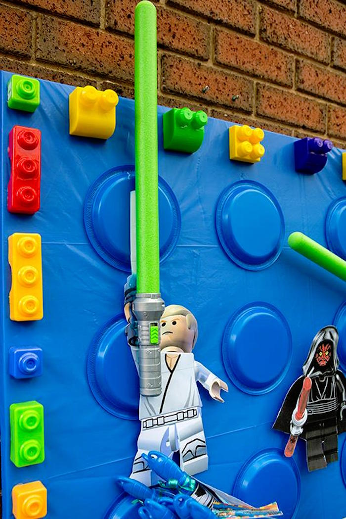 Backdrop from a Lego Star Wars Birthday Party via Kara's Party Ideas | KarasPartyIdeas.com | The Place for All Things Party! (23)