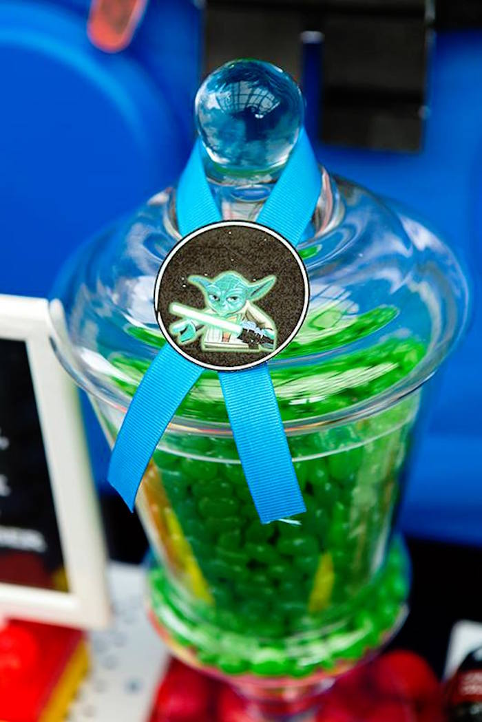 Candy Jar from a Lego Star Wars Birthday Party via Kara's Party Ideas | KarasPartyIdeas.com | The Place for All Things Party! (22)