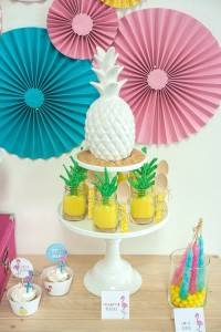 Sweets from a Let's Flamingle! Flamingo Birthday Bash via Kara's Party Ideas | KarasPartyIdeas.com | The Place for All Things Party! (28)