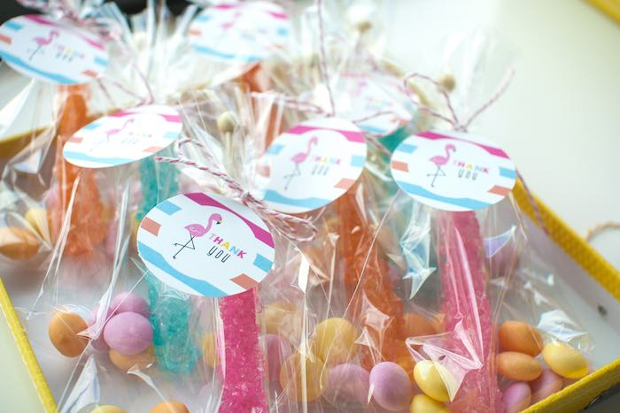 Candy Favors from a Let's Flamingle! Flamingo Birthday Bash via Kara's Party Ideas | KarasPartyIdeas.com | The Place for All Things Party! (25)
