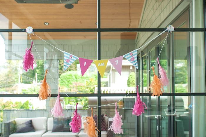 Banners from a Let's Flamingle! Flamingo Birthday Bash via Kara's Party Ideas | KarasPartyIdeas.com | The Place for All Things Party! (21)