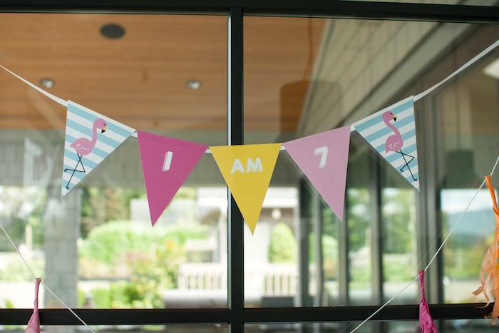 Pennant Banner from a Let's Flamingle! Flamingo Birthday Bash via Kara's Party Ideas | KarasPartyIdeas.com | The Place for All Things Party! (20)