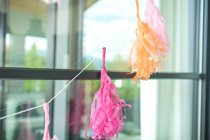 Tassel Garland from a Let's Flamingle! Flamingo Birthday Bash via Kara's Party Ideas | KarasPartyIdeas.com | The Place for All Things Party! (19)